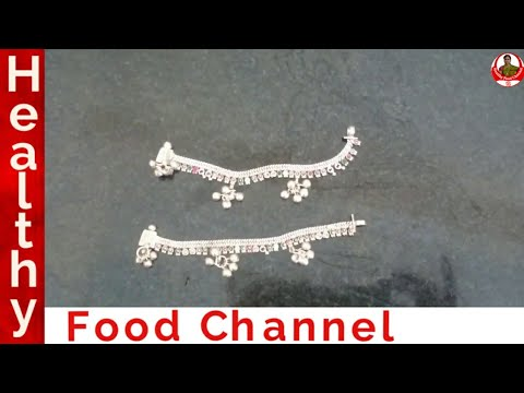 How to clean silver Anklets at home | How to clean silver jewellery | Healthy Food