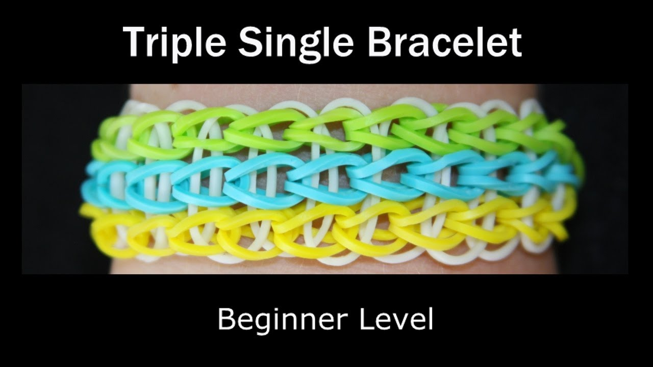 Rainbow Loom® Triple Single Bracelet - YouTube