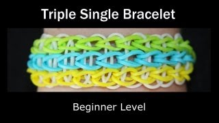 Repeat youtube video Rainbow Loom® Triple Single Bracelet