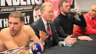 ANDY LEE v BILLY JOE SAUNDERS OFFICIAL POST FIGHT PRESS CONFERENCE WITH FRANK WARREN, TIBBS & BOOTH