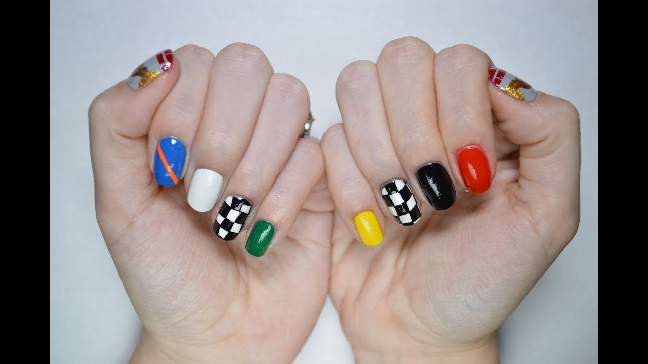 Indy 500 Nail Art Tutorial - YouTube