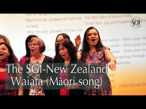 The SGI-New Zealand Waiata (Māori song)