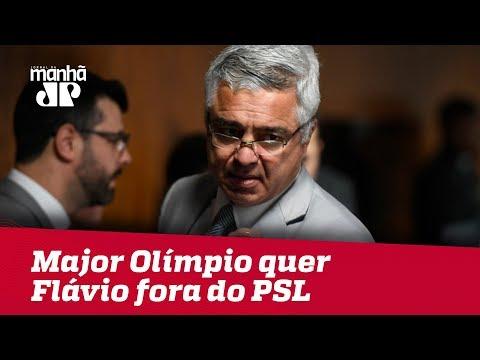 Major Olímpio quer Flávio fora do PSL: 'Traz muita vergonha a nós'