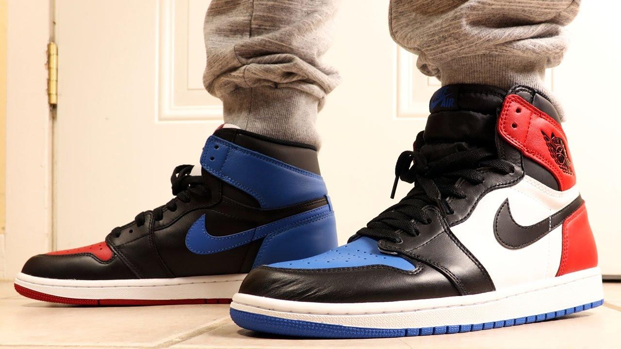 Air Jordan 1 Top 3 Three On Feet - YouTube 86412030c