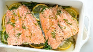 Perfectly Baked Salmon Re¢ipe with Lemon and Dill - How to Bake Salmon