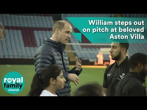William steps out on pitch at beloved Aston Villa