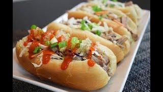 Receta Hot Dogs de Pollo en Vino Tinto en la Olla de Lenta Cocción: Dia del Padre receta facil!