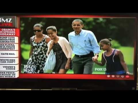 Me On TMZ - The Obama's Are Off To Palm Springs