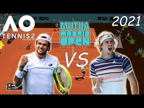 AO Tennis 2 | Alexander Zverev VS Matteo Berrettini Final Mutua Madrid Open 2021 Simul | marratxiboy