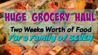 huge bjs haul    two weeks of food for a family of seven