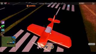 Trying the new stunt plane in jailbreak (roblox)