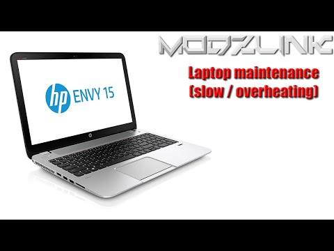 """HP ENVY 15"""" Maintenance (applies to any laptop)"""