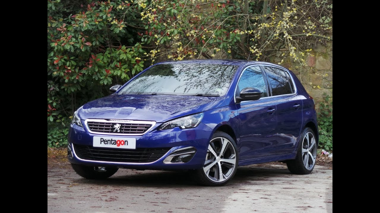 2015 15 peugeot 308 1 2 puretech 130 gt line 5dr in blue youtube. Black Bedroom Furniture Sets. Home Design Ideas