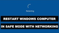 How to Restart Computer in Safe Mode with Networking