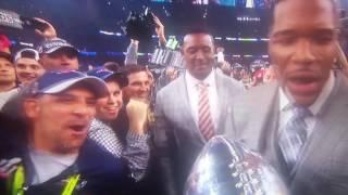 Super Bowl 51 trophy presentation