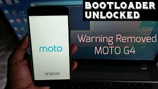 Moto G4 2016 Remove Your Device Has Been Unlocked & Cant Be Trusted Warning
