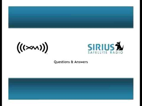 Sirius and XM Merger Announcement and Slides