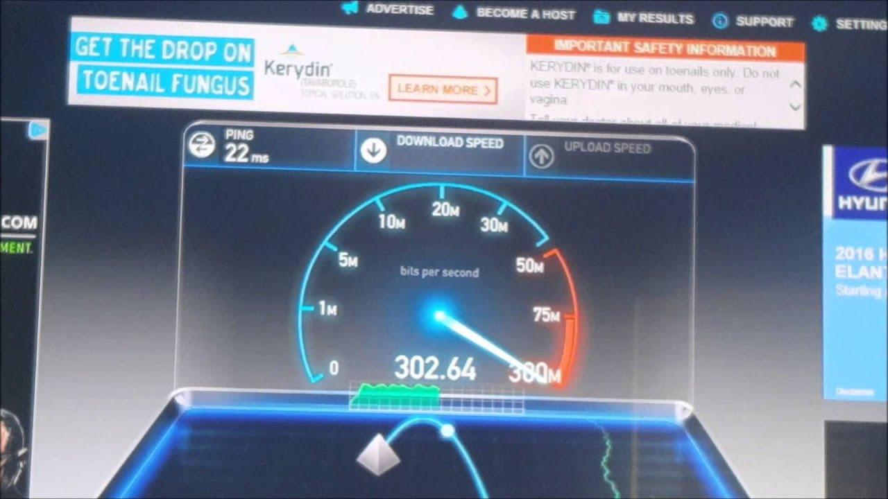 250 Mbps Comcast Speedtest - YouTube