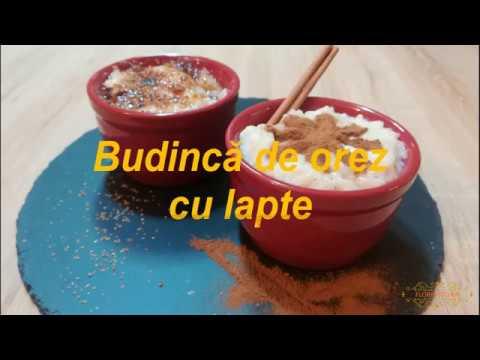 Budinca de orez cu lapte