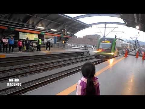 Viajando en  el Metro de Lima , en   noviembre -- 2017