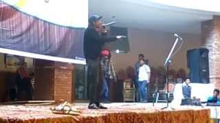 Roti kapra makaan live performance in comsats by Sham The Rapper(cover)