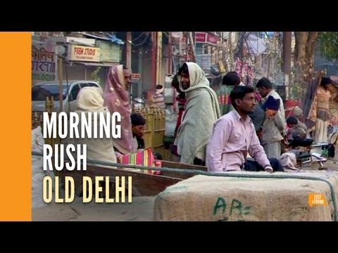 Morning on the streets of Old Delhi