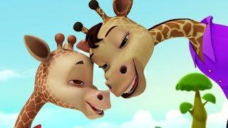 Giraffe Telugu Animal Rhymes for Children | Infobells