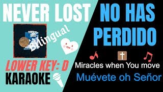 Download NEVER LOST- Elevation Worship Lower Key(D) Karaoke/Instrumental w/lyrics(Spanish & English) Mp3 and Videos