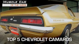 Top 5 Chevrolet Camaros:  Muscle Car Of The Week Video Episode 230 V8TV