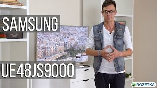 Samsung UE48JS9000: обзор телевизора(Цена и наличие Samsung UE55JS9000: http://rozetka.com.ua/samsung_ue55js9000txua/p3569864/ Цена и наличие Samsung UE65JS9000: ..., 2015-07-24T07:00:00.000Z)