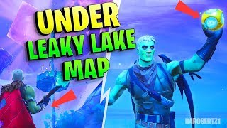 Comment obtenir sous la carte sous Leaky Lake Bug à Fortnite