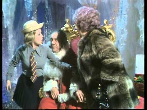 Barbara Windsor as a schoolgirl in 'Carry On Christmas 1973'