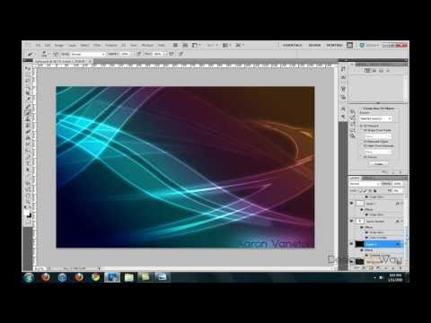 Photoshop Tutorial: Glowing Abstract Background