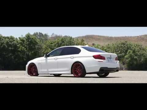 "Modified BMW 550i M-Sport 20"" Euro Red Finish Lexani Wheels"