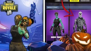 "ALL ""NEW"" Halloween SKINS/Customization Showcase in Fortnite Battle Royale Update 1.8"