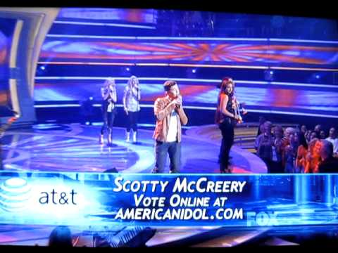 Scotty McCreery -Swinging American Idol + Judges
