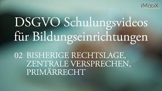 [DSGVO MOOC] 02 Bisherige Rechtslage, zentrale Versprechen, Primärrecht