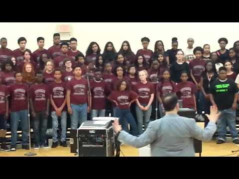 Potomac Middle school Chorus singing a medley