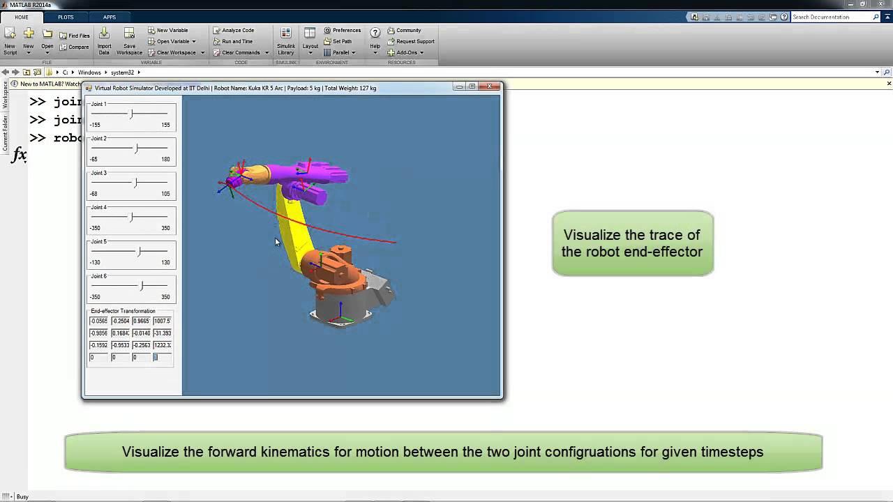 Virtual Robot Module - Robotics Toolbox (MATLAB): Overview