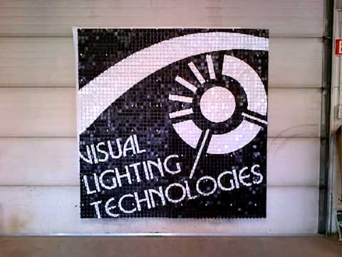 Awesome Visual Lighting Technologies SolaRay Sequin Trade Show Booth Sign Awesome Design