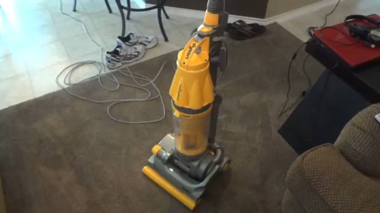 Dyson dc07 all floors upright vacuum youtube dyson dc07 all floors upright vacuum doublecrazyfo Gallery