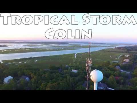 Folly Beach Drone - Tropical Storm Colin - DJI Phantom - GoPro