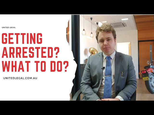 Getting arrested?... What to do?