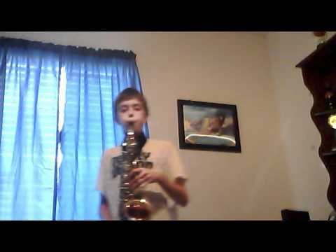 Simple gifts on alto saxaphone