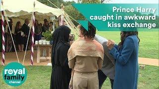 محجبة تحرج الأمير هاري أمام الكاميرات.. فيديو
