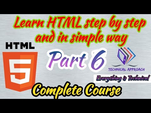 06 HTML CSS | Full HTML Course | Technical Approach thumbnail