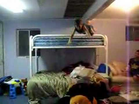 Ali Jumping Off Bunk Bed Youtube