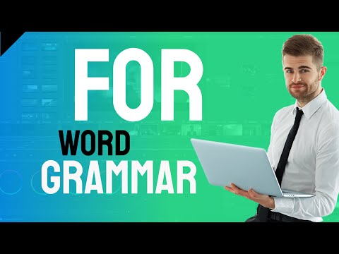Word Grammar - for - useful expressions featuring for