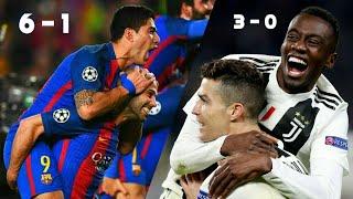 4 Remontées de FOLIE en Ligue Des Champions
