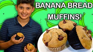 How to Make Chocolate Chip Banana Bread Muffins!  | Universal Kids